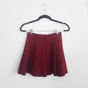 Dresses & Skirts - Zara Wine Red A-Line Scuba Mini Skirt